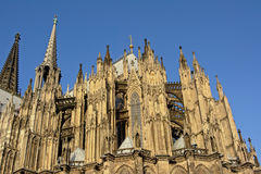 Gothic architcture of the Catholic cathedral of Cologne or High Cathedral of Saint Peter Royalty Free Stock Photos