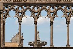 Ancient Medieval Column in Viterbo, Italy royalty free stock photos