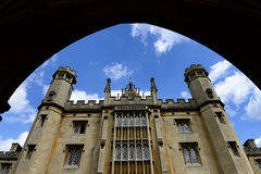 Gothic Architecture from Arch at St Johns College Stock Photo