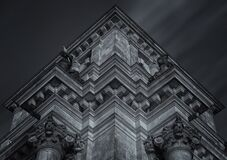 Gothic architecture in black and white Royalty Free Stock Images