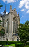 Gothic Architecture - Cathedral, Belgium. Sint-Rombouts Cathedral in Mechelen, Belgium. The building of the tower was begun in 1452 and it was intended to be Royalty Free Stock Images