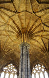 Gothic architecture - ceiling. The interior of Elgin's partially restored Cathedral, Scotland Royalty Free Stock Image