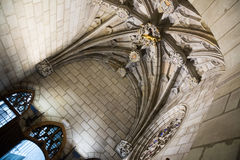 Gothic architecture  dated 15th century. In palace Generalitat de Catalunya. Barcelona, Spain Stock Image