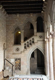 Gothic architecture   dated 15th century in palace. Generalitat de Catalunya. Barcelona, Spain Royalty Free Stock Images