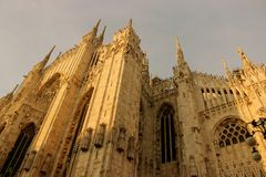Duomo of Milan. Gothic architecture of the duomo of Milan - Italy royalty free stock images