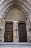 Gothic Architecture - entrance of Cathedral. Etrance of Sint-Rombouts Cathedral in Mechelen, Belgium. The building of the tower was begun in 1452 and it was Royalty Free Stock Image