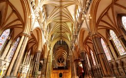 Gothic architecture. In Lincoln, England Stock Photos
