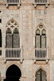 Gothic architecture in Venice royalty free stock images