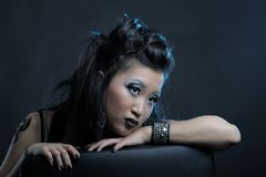 Gothic asian girl Royalty Free Stock Photos