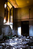 Gothic asylum , burnt room Royalty Free Stock Images