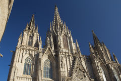 Gothic Barcelona Cathedral Stock Photos