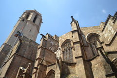 Gothic Barcelona Cathedral Royalty Free Stock Photo