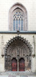 Gothic basilica in Hronsky Benadik, Slovakia Stock Photo