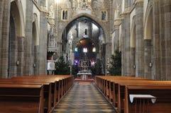 Gothic basilica Saint Procopius in Trebic, Royalty Free Stock Photos