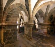 Gothic basilica Saint Procopius in Trebic, UNESCO site Royalty Free Stock Image