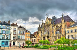 Gothic Basilica Saint Urbain of Troyes in France Stock Photos