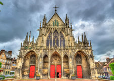 Gothic Basilica Saint Urbain of Troyes in France Royalty Free Stock Photos