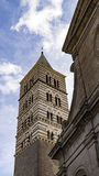 Gothic belfry of the Cathedral of San Lorenzo Royalty Free Stock Image