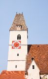 Gothic bell tower of church in spitz, austria Stock Photo