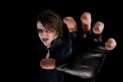 Gothic boy with artistic make-up Stock Photos