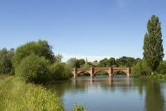 Gothic Bridge and Appleford Church Stock Images