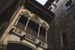 Gothic bridge in Barcelona Stock Photo