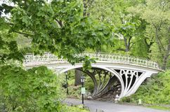 Gothic Bridge Central Park. The Gothic Bridge on the upper West Side of Central Park in New York City Royalty Free Stock Image