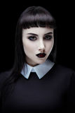 Gothic brunette girl stock images