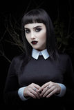 Gothic brunette girl Royalty Free Stock Photos