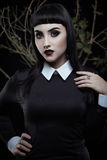 Gothic brunette girl royalty free stock images