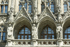 Gothic building facade Stock Images