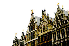 Gothic Buildings Antwerp Stock Photo