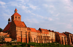 Gothic buildings in Grudziadz Royalty Free Stock Photography