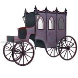 Gothic carriage 1. 3D render of a gothic vampire carriage stock illustration