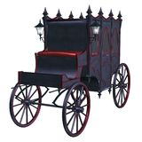 Gothic carriage 2. 3D render of a gothic carriage Stock Photography