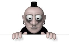 Gothic cartoon character Royalty Free Stock Images