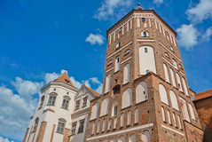 Gothic Castle. In Mir, Minsk region, Belarus, East Europe royalty free stock photography