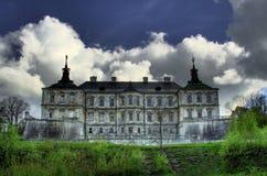 Gothic castle. HDR of Pidgirci castle in Western Ukraine Stock Photo