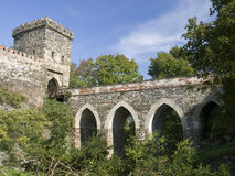 Gothic castle Bitov Stock Image