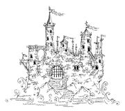 Gothic Castle from Fairytale IV. Vector illustration EPS-8 Stock Photography