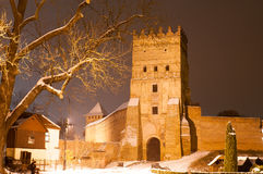 Gothic castle in Lutsk Stock Photos