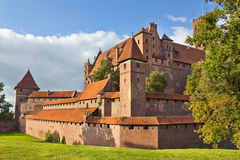 Gothic castle in Malbork, Poland Stock Photography