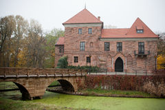 Gothic castle in Oporow, Poland Stock Photos