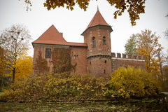 Gothic castle in Oporow, Poland Royalty Free Stock Photo