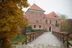 Gothic castle in Oporow, Poland Stock Image