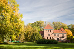 Gothic castle in Oporow, Poland Stock Images