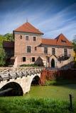 Gothic castle in Oporow, Poland Stock Image