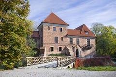 Gothic castle in Oporow, Poland Stock Photos