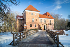 Gothic castle in Oporow, Poland Stock Photo