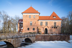 Gothic castle in Oporow, Poland Royalty Free Stock Image